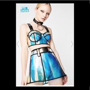 Two piece set- iridescent top and skirt